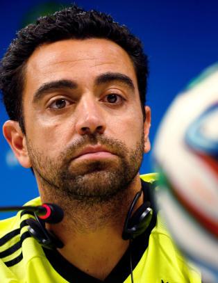 Xavi ferdig for Spania