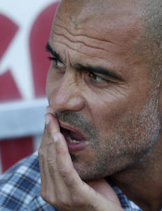 Sint Guardiola nektet � takke for kampen etter tap