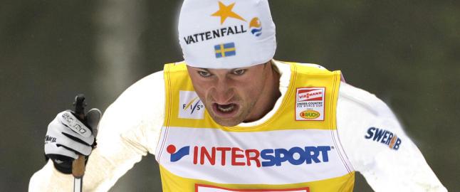 Se for deg Petter Northug vinne VM-stafetten i Falun for Sverige