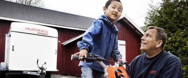 Lars Erik (49) dro p� kurs for � bli en bedre pappa for Lukas (5)