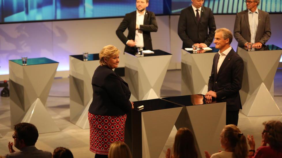 <b>STATSMINISTER-DUELL:</b> Møtet med Erna Solberg er Jonas Gahr Støres første partilederdebatt.