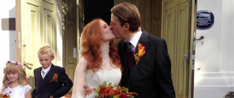 Kjendisdatter Hanna-Maria (23) har giftet seg med kunstner Sverre Bjertn�s (38)