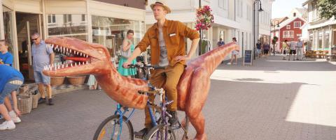 Syklet fra Stavanger til Kristiansand p� dinosykkel