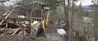 Rev naboens uthus i to. N� kan Arne Vigelands luksushus bli tvangssolgt