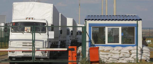 Russland ville ikke vente p� tillatelse, hjelpekolonne passerte grensen til Ukraina