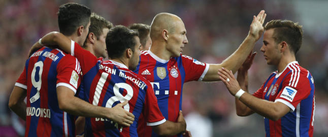 M�ller og Robben sikret seier for Bayern i �pningskampen i Bundesliga