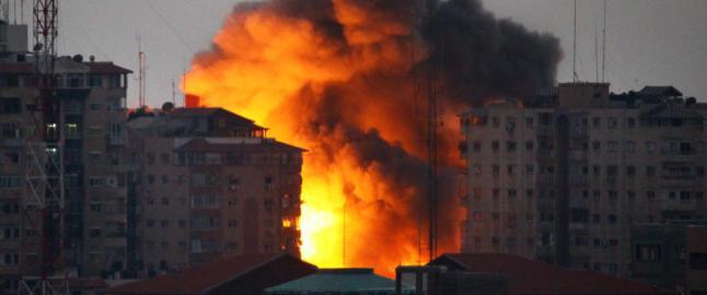 Sendte tomt missil for � advare. S� bombet Israel et 12-etasjes hus s�nder og sammen