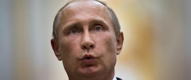 Putin kaster maska for � redde ansikt