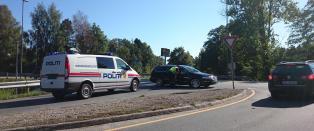 V�pnet aksjon i Grimstad sentrum