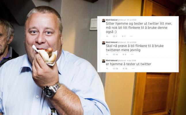 B�rd Hoksruds Twitter-karriere hylles: - Jeg lo godt for meg sj�l da jeg leste de gamle meldingene