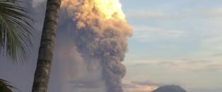 - Utbruddet begynte forsiktig og utviklet seg