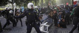 Flere tusen demonstrerte mot nynazister i Stockholm