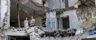 Anastasias boligdr�m ble bombet s�nder og sammen