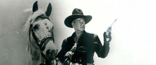 En cowboy letter p� hatten