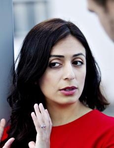 Hadia Tajik er nok den f�rste statsr�den som trues for den hun er