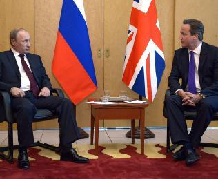 - Cameron sammenlignet  Putin med Hitler