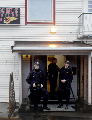 Hells Angels-medlem p�grepet under v�pnet aksjon i Troms�