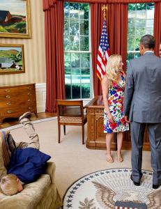 Hva ellers gj�r man n�r mamma og pappa m�ter presidenten?