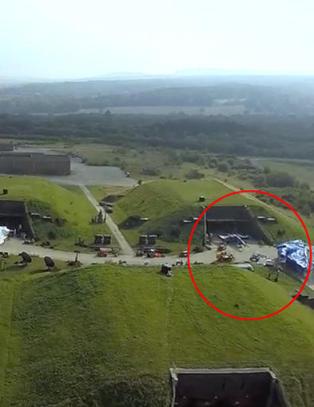 Justin ble sjokkert da han s� hva dronen hadde filmet