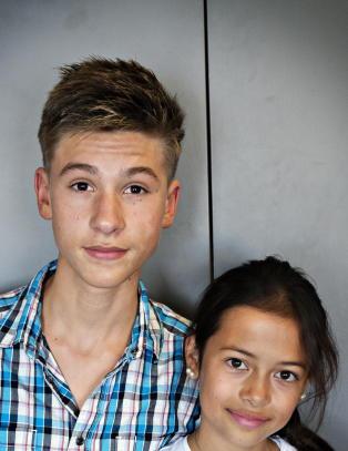 Vinjar (15) og Sofie (11) fikk dr�mmerollene