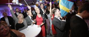 Sverigedemokraterna st�rst i 95 valgkretser