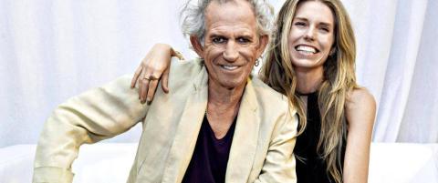 Rockelegenden Keith Richards viser myk side