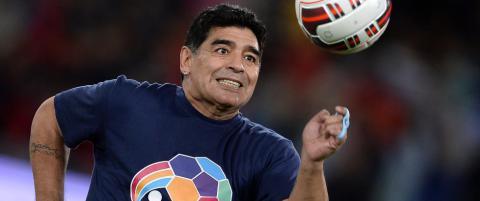 Maradona (53) f�ler seg som en 80-�ring
