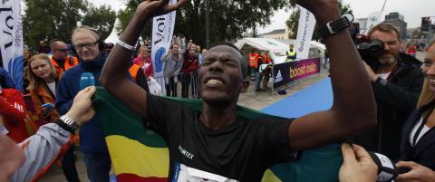 Tirfea fra Etiopia vant Oslo Maraton