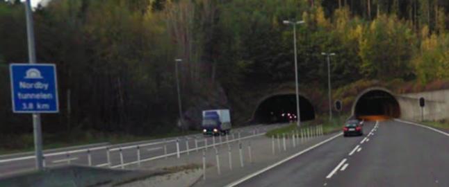 8-�ring bak rattet i motorveitunnel
