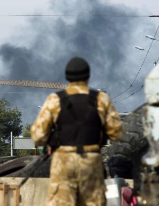 Nye kamper ved flyplassen i Donetsk