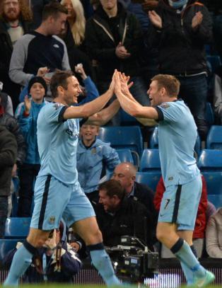 Manchester City scoret sju m�l p� en omgang
