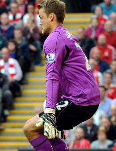 Denne posituren fikk Neville til � starte debatt om Liverpool-keeperen