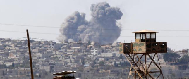 - IS er i ferd med � erobre den syriske grensebyen Kobani