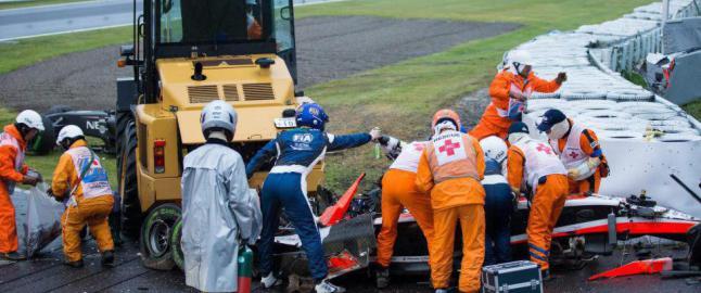 Bianchi har alvorlig hjerneskade etter formel 1-krasjen