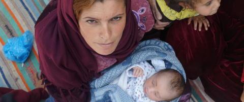 Babyen Yousef (1 dag) er Kobani-kurdernes yngste flyktning