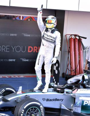 Hamilton og Rosberg med �rets niende dobbeltseier