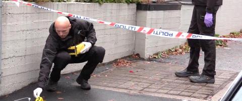 Oslo-politiet fikk melding om slagsm�l. Da de kom til stedet oppdaget de en knivstikking