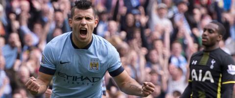 Ag�ero tidenes m�lscorer  for City i Premier League