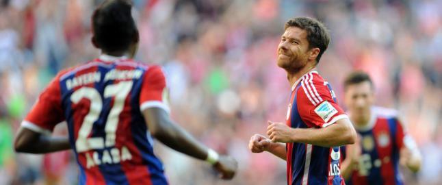 Xabi Alonso m� bare le etter dette frisparkm�let i Bayern-storseier