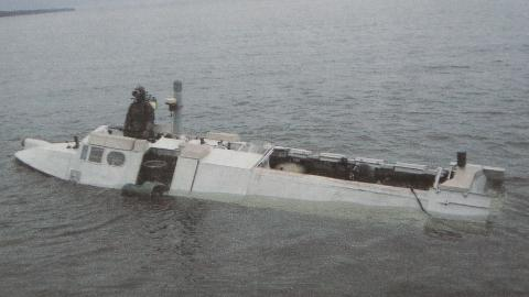 MINIUB�T: Den svenske marinen leter angivelig etter en russisk miniutb�t av typen Triton-NN.