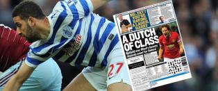 QPR-spiller stemplet som feit, viser fram magen i britiske aviser