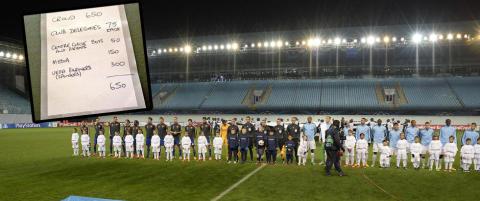 Trodde du CSKA - City ble spilt foran tomme tribuner? Dette er de 650 som ser kampen