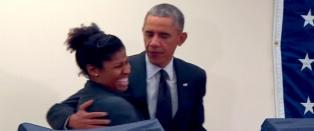 Obama i sjalusidrama: - Ikke r�r dama mi!