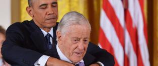 Redakt�ren som felte president Nixon er d�d