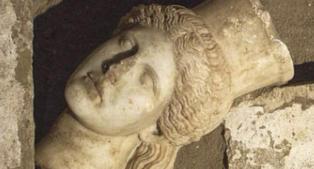 Fant historisk sfinx-hode