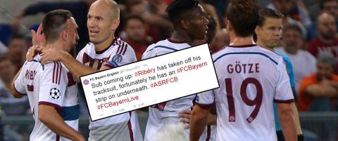 Bayern M�nchen gjorde narr av Fellaini-tweet underveis  i m�lfesten