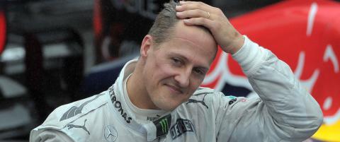 Schumacher-lege sp�r opptrening p� opptil tre �r