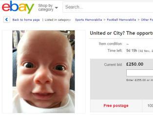 Foreldrene auksjonerer bort Eddies (7 mnd) fotballframtid p� Ebay