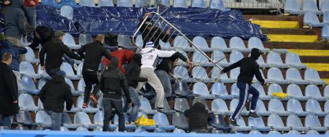 Europa League- kamp rystet av supporterbr�k