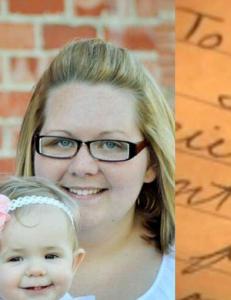 Mitchell (26) skrev brev i skjul til kona og datteren f�r han d�de